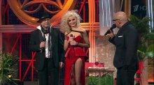 """Видео равно фотоотпечаток сексуальная Полюха Гагарина на теле стриптиз-шоу """"Две звезды"""""""