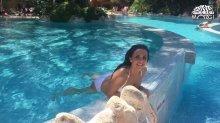 Видео равно фотка Настя Каменских на купальнике на своем видео блоге
